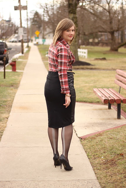 faux leather real plaid 4