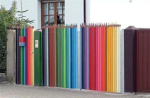 colored pencil fence (di The Sugar Monster)