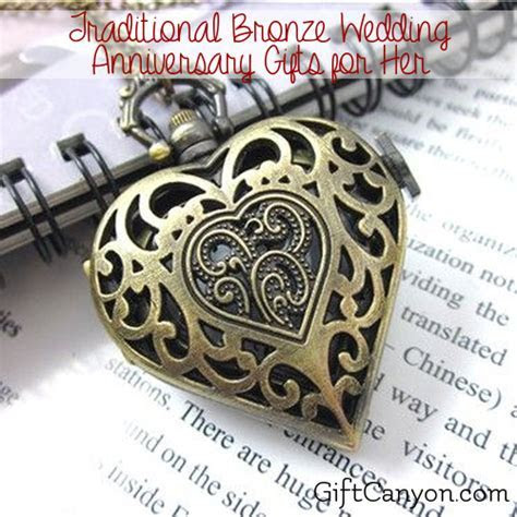 Traditional 8th Wedding Anniversary Gifts for Her: Bronze