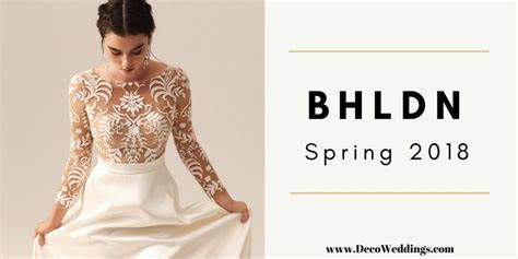 Vintage Style Wedding Dresses   BHLDN Spring 2018   Deco