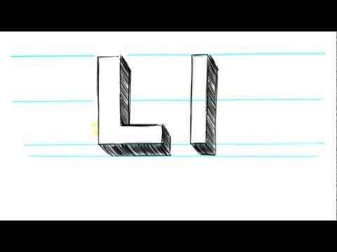 Nasıl 3d Harf L Büyük Harf L Ve 90 Saniye Içinde Küçük L