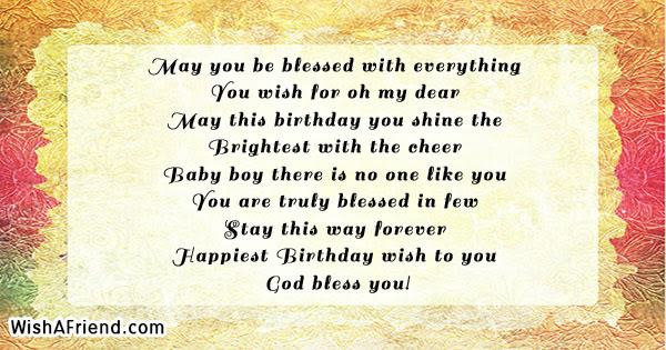 May You Be Blessed With Everything Kids Birthday Quote