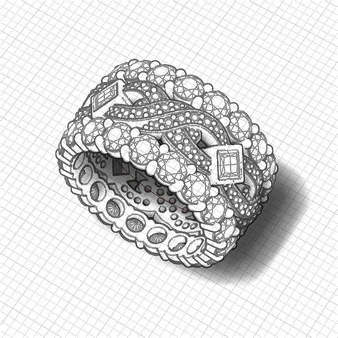 Wide Diamond Band   Jewelry Designs