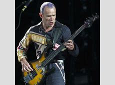 Flea plays American national anthem as bass solo at