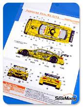Calcas 1/24 Shunko Models - BMW M3 Deutsche Post - Nº 22 - Glock - DTM 2013 para kits de Revell REV07178 y REV07082
