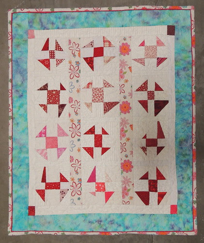 Recycled Flies- Wonky Flies Doll Quilt