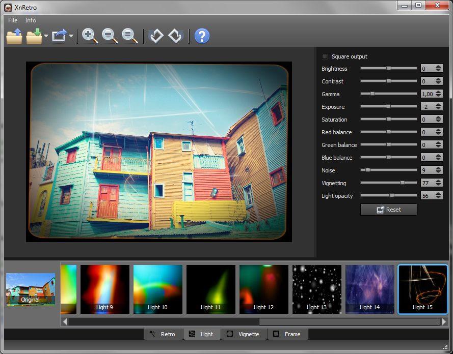 تحميل برنامج XnRetro لاضافة التأثيرات والاطارات علي الصور