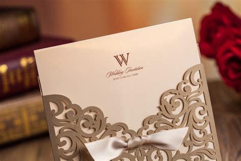 Elegant Wedding Card Laser Cut