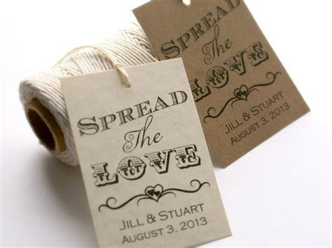 Printable Spread the Love Tags, DIY Wedding Favor Tags