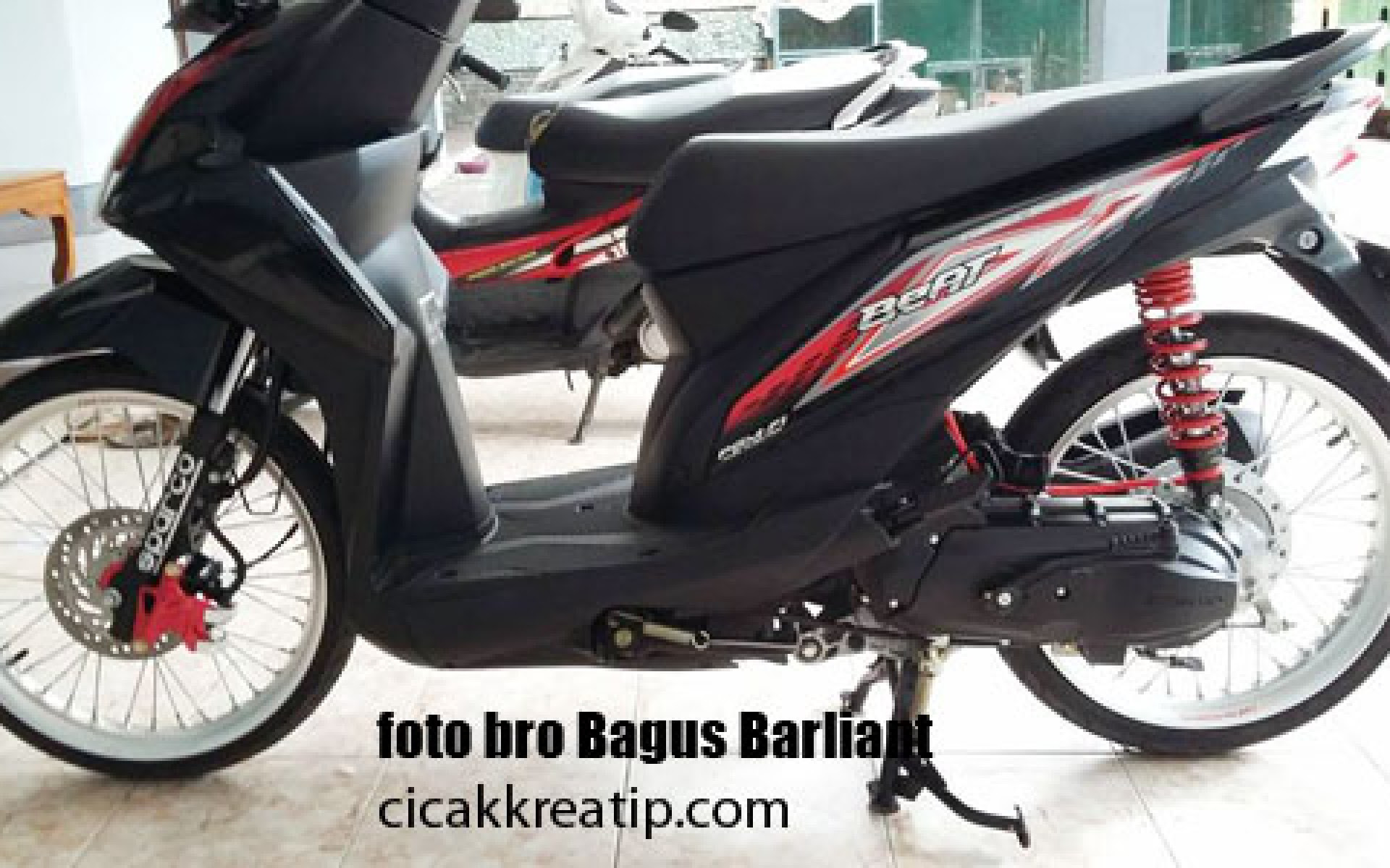 Modifikasi Honda Beat Fi Hitam