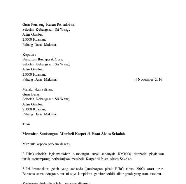 Contoh Surat Rasmi Memohon Maaf - Dawn Hullender