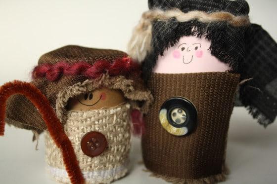 toilet roll nativity set shepherd and joseph