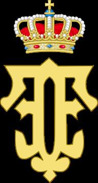 Royal Monogram of Queen Fabiola of Belgium.svg
