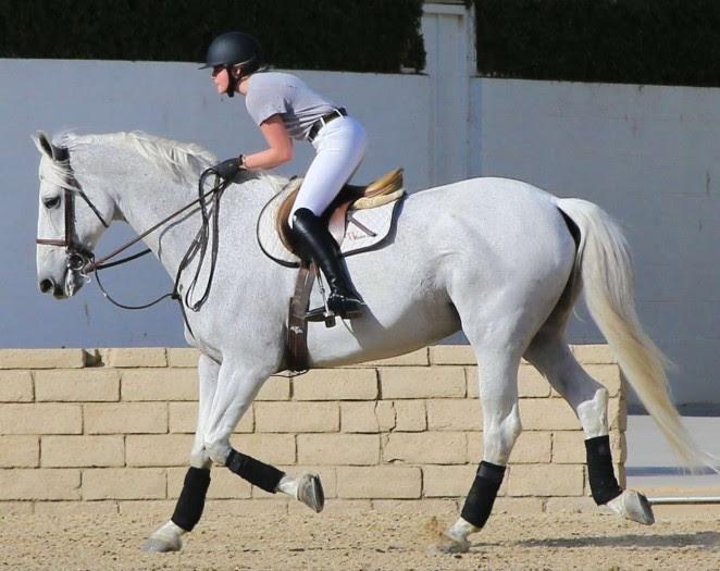 Chloe Moretz: Riding a Horse -01