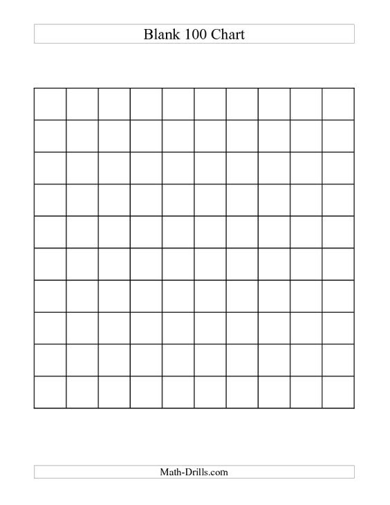 1st Grade Blank 100 Chart   Been there done that, next please ...