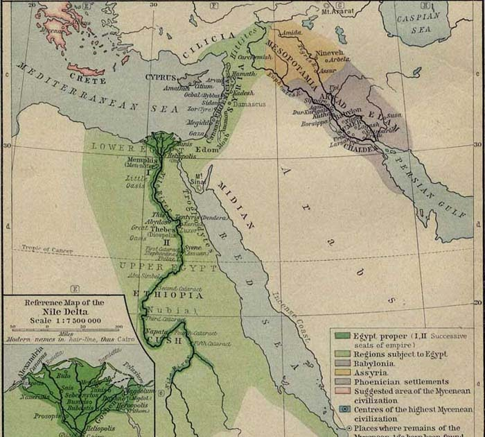 Printable Map Of Egypt About BC A Reference Map Of The Nile - Map of egypt delta