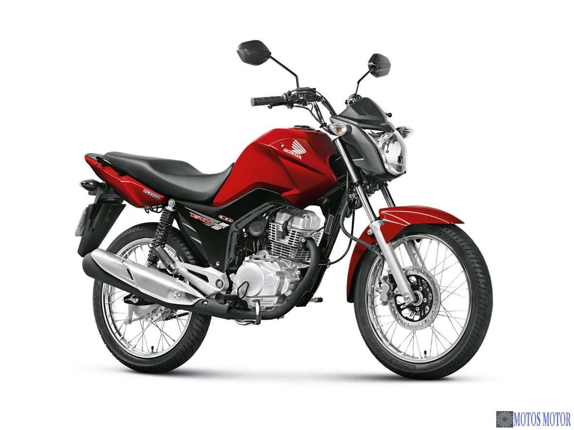 Resultado de imagem para motocicleta Honda/CG 125, de cor vermelha