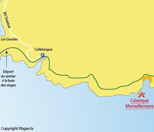 Plan de la calanque de Marseilleveyre