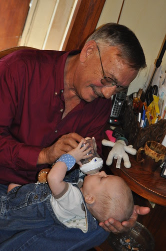 Grandpa Feeds Buzz