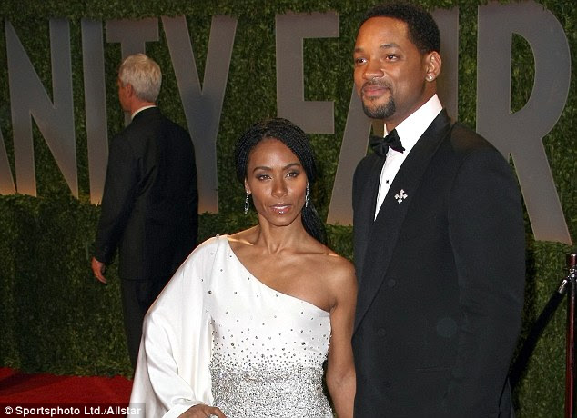 Skewered: Chris Rock made Will Smith and Jada Pinkett Smith the butt of his most pointed jokes during his monlogue - mocking them for their boycott of the Oscars