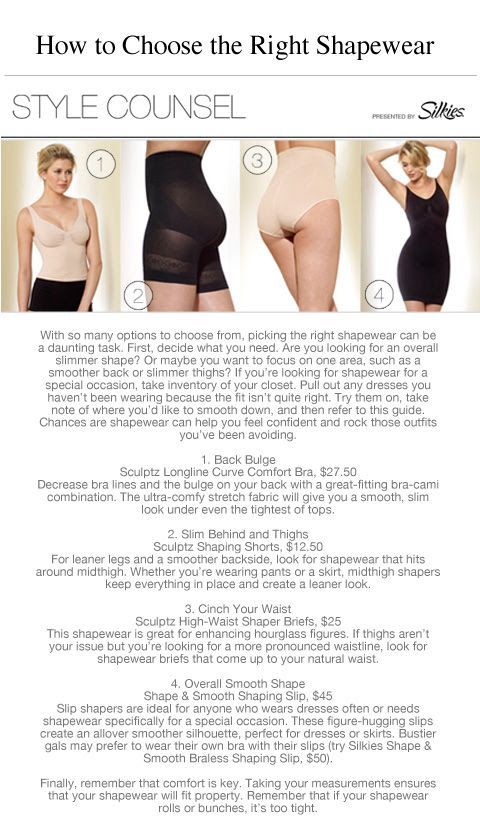 With so many options to choose from, picking the right shapewear can be a daunting task. First, decide what you need. -- How to Pick The Right Shapewear