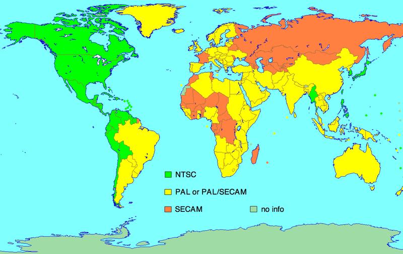 Formatos de sistemas de video más usados [PAL] y [NTSC]