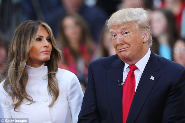 President Trump, pictured here with his wife Melania, may have cancelled the trip because he was unhappy about the arrangements and the scale of the visit