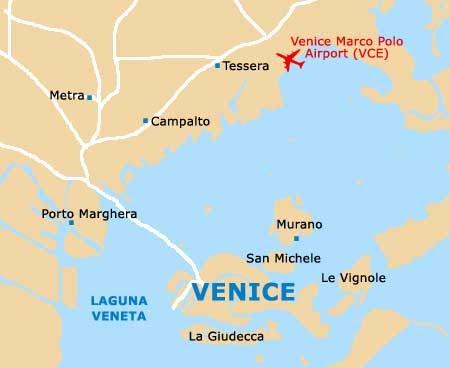 Airport In Venice Italy Map   Zip Code Map