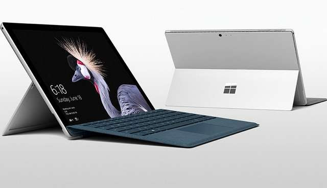 Surface Pro (2017) front and back
