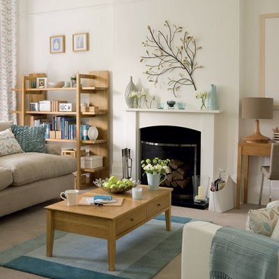 How to Decorate a Living Room with a Fireplace - Interior design
