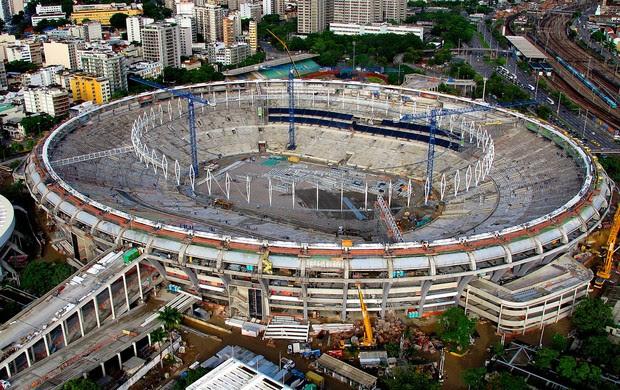 visão geral estádio maracanã obras (Foto: Genílson Araújo / O Globo)