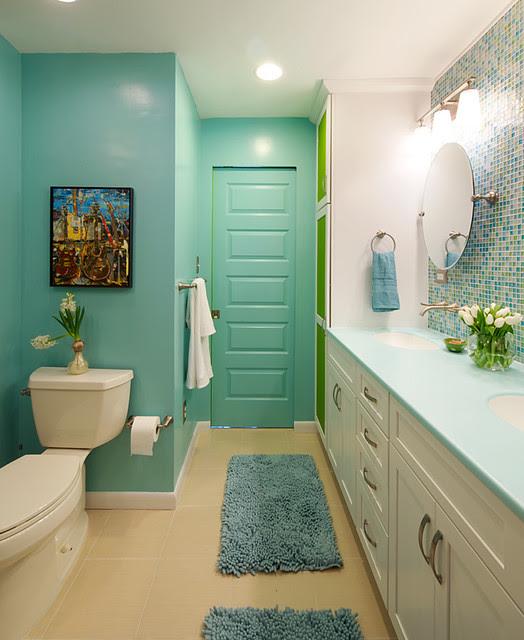 Colorful and Modern Bathroom - Contemporary - Bathroom ...