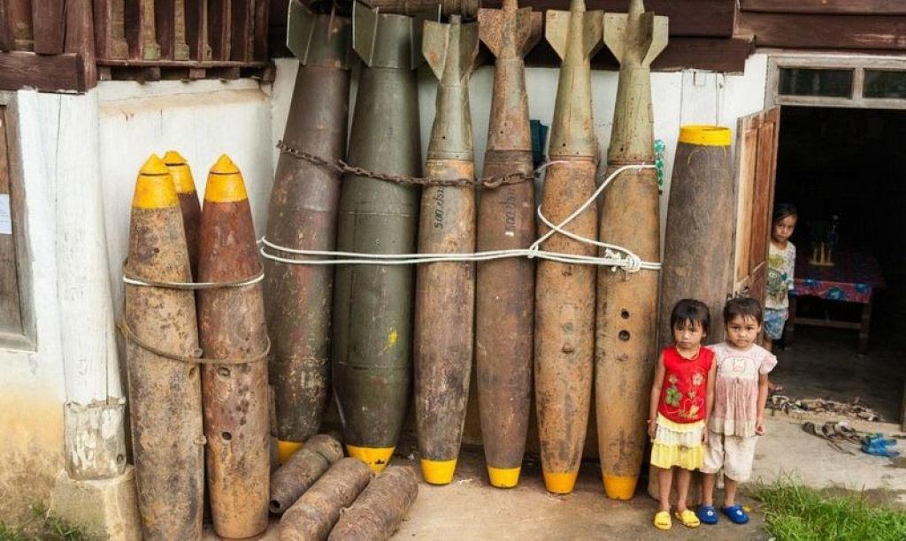 Bombas não detonadas encontram uso diário nas aldeias do Laos 02