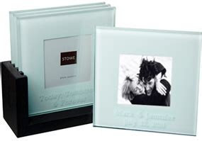 Personalized Picture Frame Glass Coasters*: HansonEllis.com