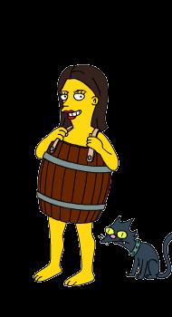 simpsons barrel and cat