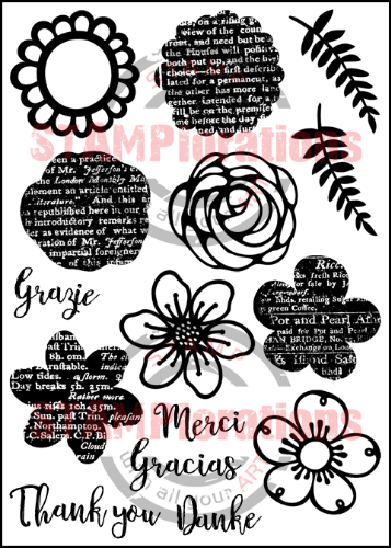 "TRENDY SPRING BLOOMS 5"" by 7"" Stamp Set"