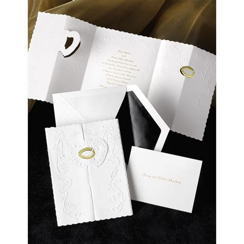 Ring of Love Gold Invitation   Ann's Bridal Bargains