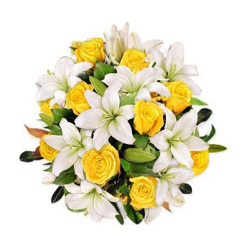 Abu Dhabi Love Kiss Flower Delivery 8 White Lilies With 6