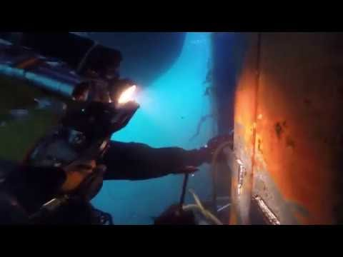 CÔNG NGHỆ HÀN: Hàn dưới nước - Một trong những nghề nguy hiểm