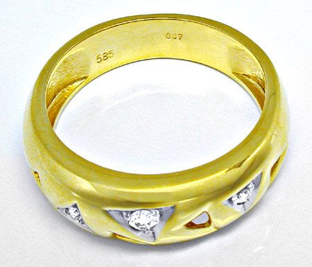 Foto 3, Designer-Brillant-Ring River 14K/585 Bicolor Shop Neu!!, S8246