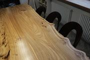 Стол обеденный из слэба дерева на 8 персон