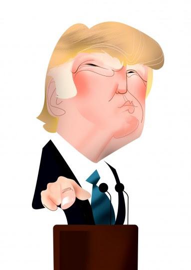 <p>Caricatura de Donald Trump.</p>