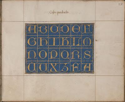 Spanish calligraphy - casos quadrados - Plimpton MS 296