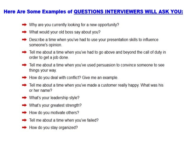 Possible interview question