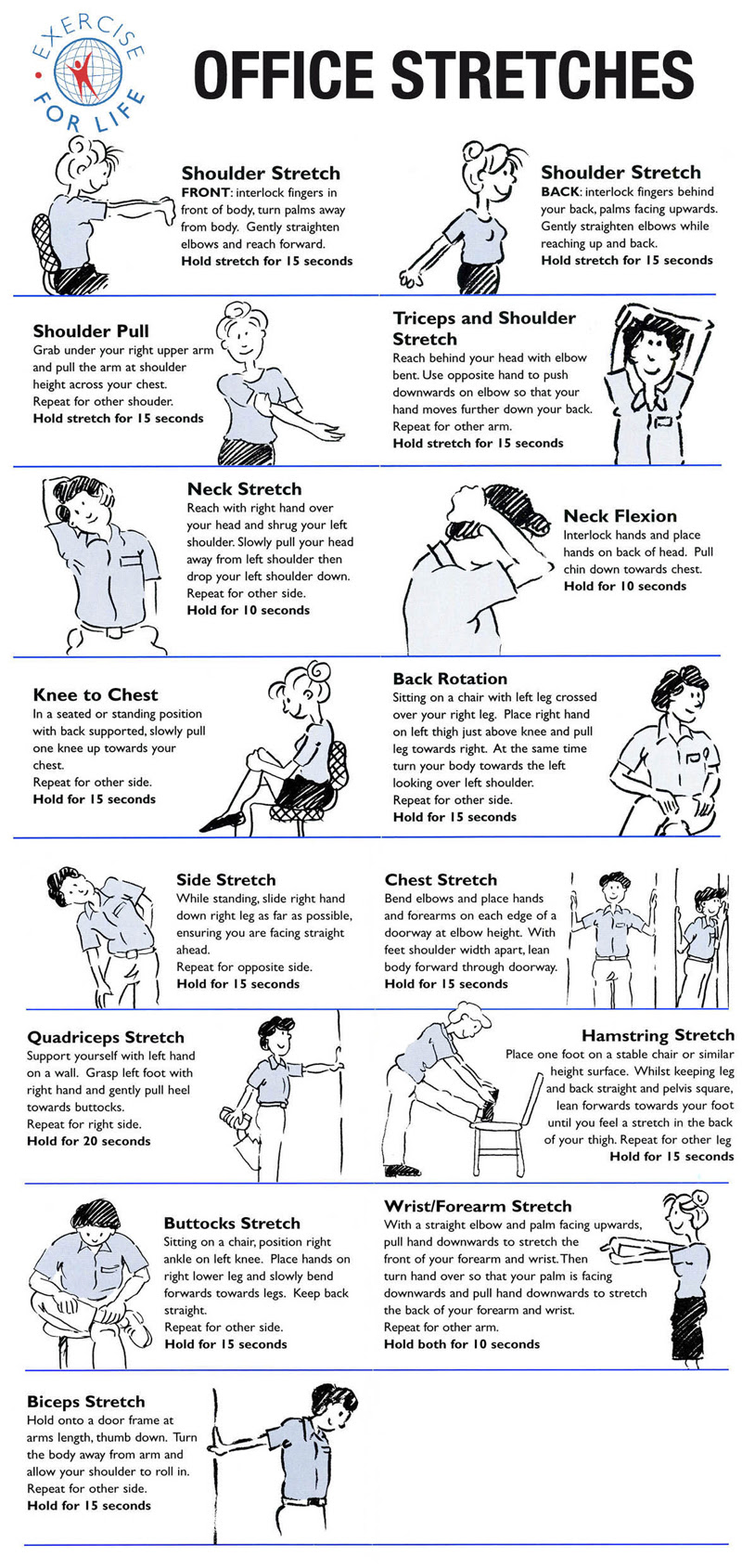 Focus on Physical - Stretches to Reduce Stress