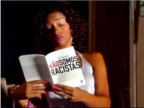 Merchandising do livro numa novela da Globo
