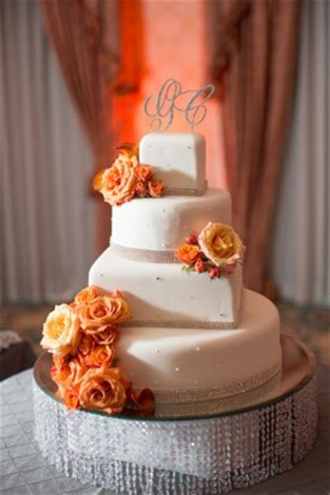 orange and gray wedding cake   Weddings By the Color
