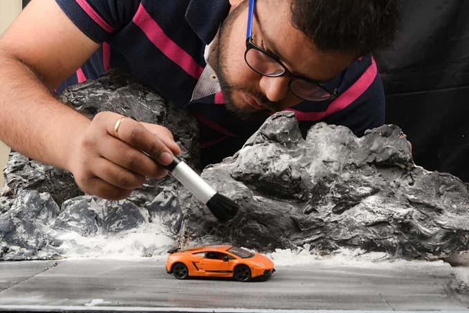 Φωτογραφίζοντας αυτοκίνητα μινιατούρες σαν να ήταν αληθινά (9)
