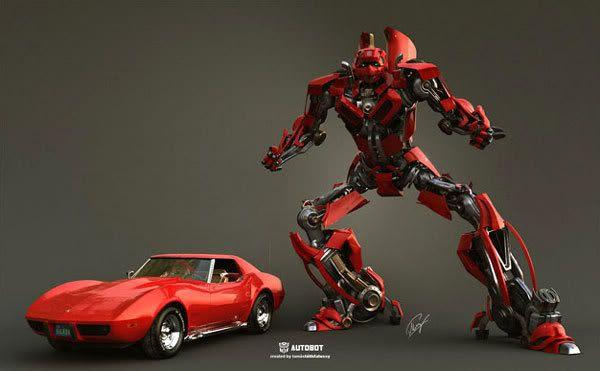 Fan art depicting the Autobot named Cliffjumper.