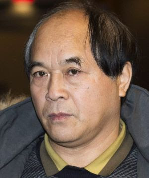 Diran Lin, father of Jun Lin, leaves the Montreal Courthouse following the trial of Luka Magnotta.